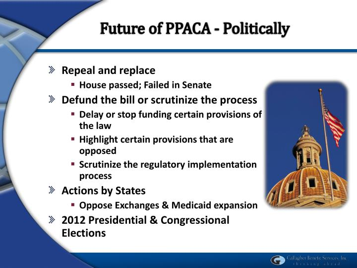 Future of PPACA - Politically