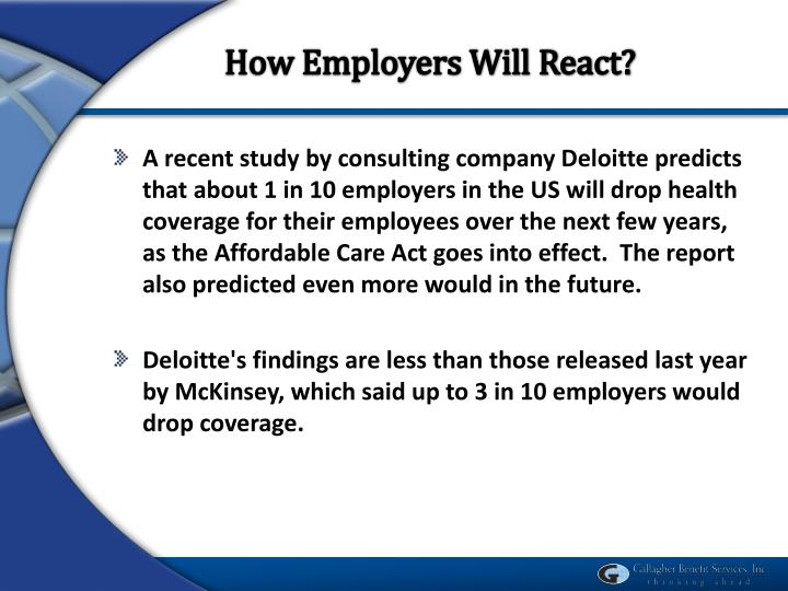 How Employers Will React?