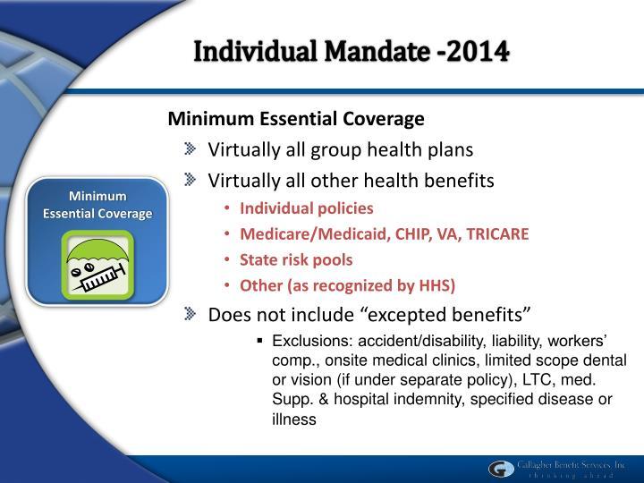 Individual Mandate -2014