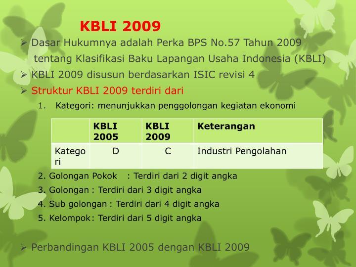 KBLI 2009
