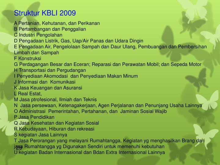 Struktur KBLI 2009