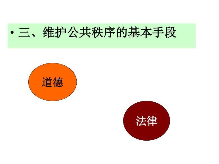 三、维护公共秩序的基本手段