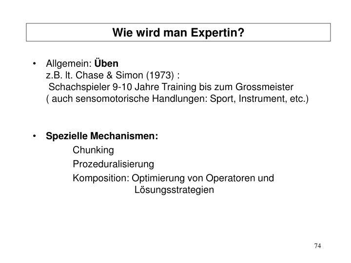 Wie wird man Expertin?