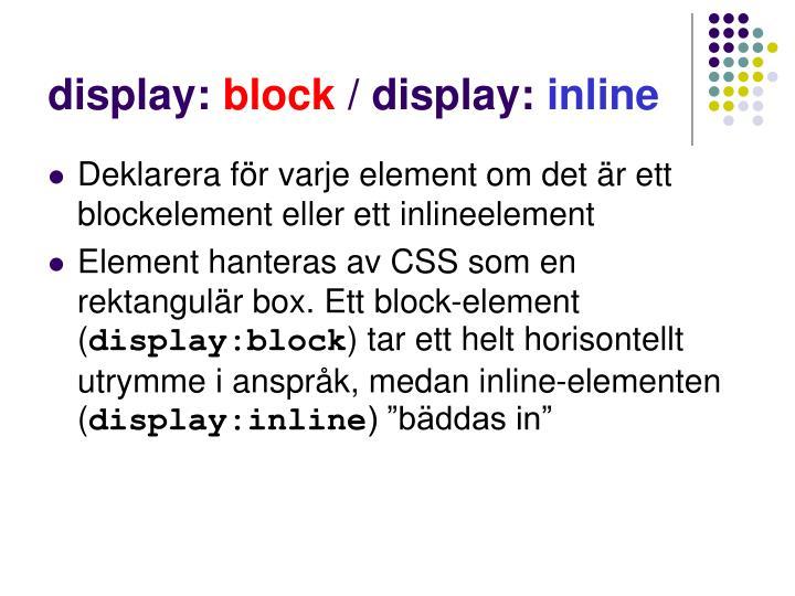 display: