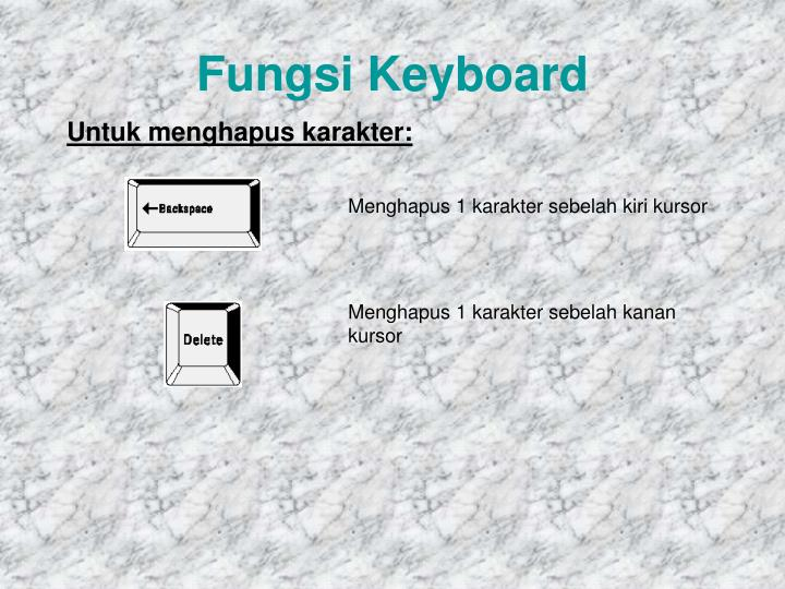 Fungsi Keyboard