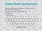 tombol ketik typing keys