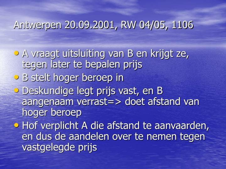 Antwerpen 20.09.2001, RW 04/05, 1106