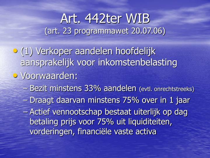 Art. 442ter WIB