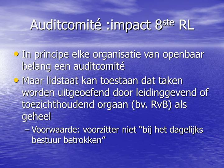 Auditcomité :impact 8