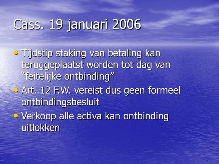 Cass. 19 januari 2006