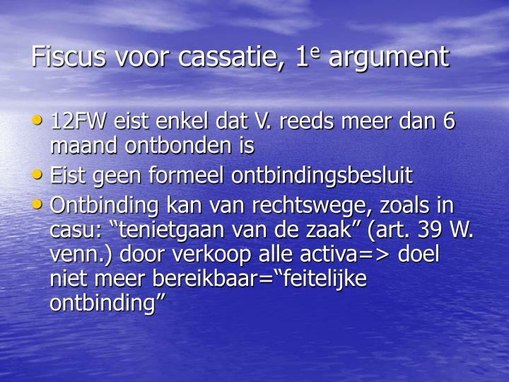 Fiscus voor cassatie, 1