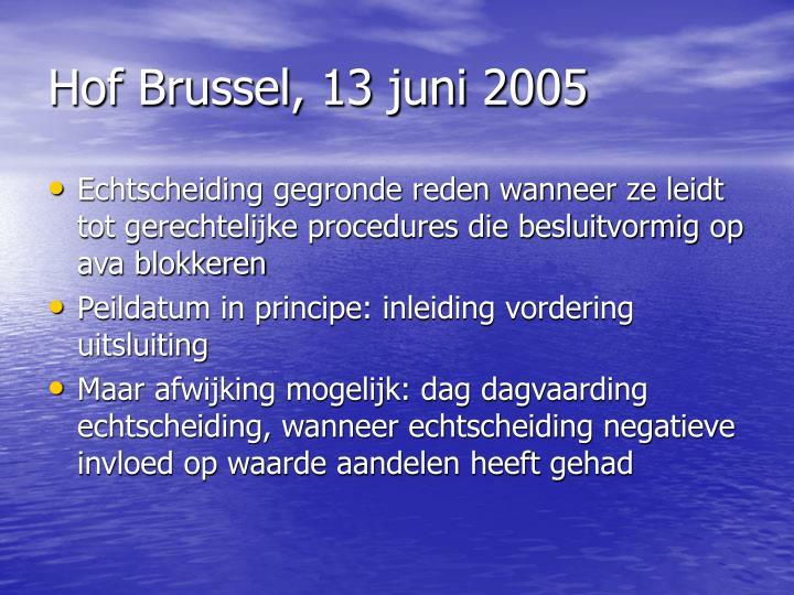 Hof Brussel, 13 juni 2005