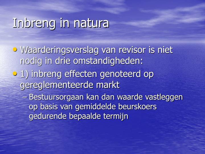 Inbreng in natura