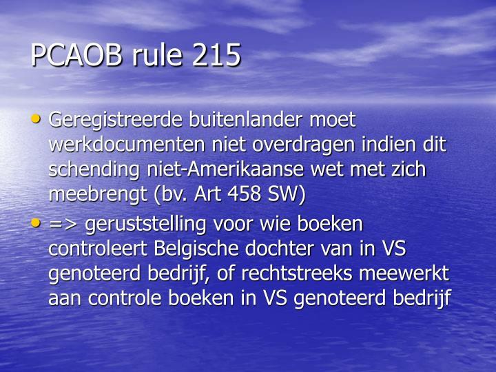 PCAOB rule 215