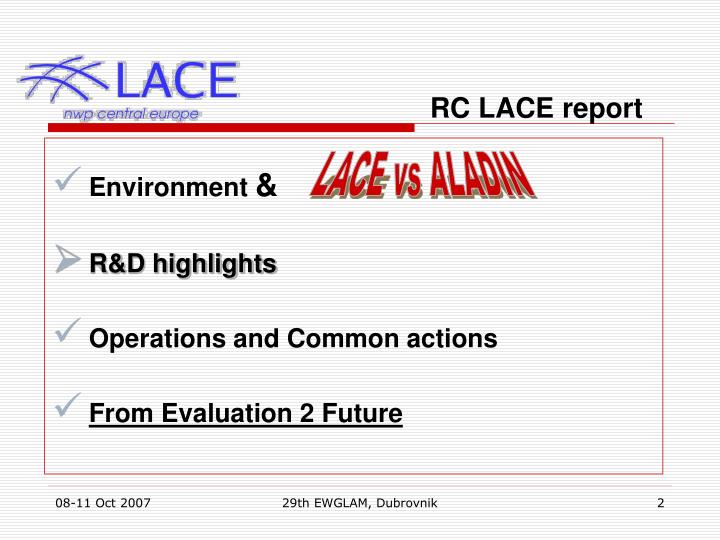 RC LACE report