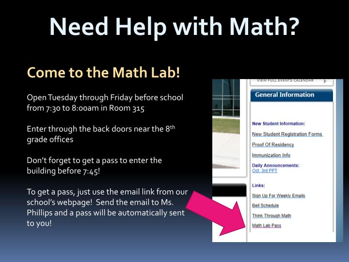 Need Help with Math?