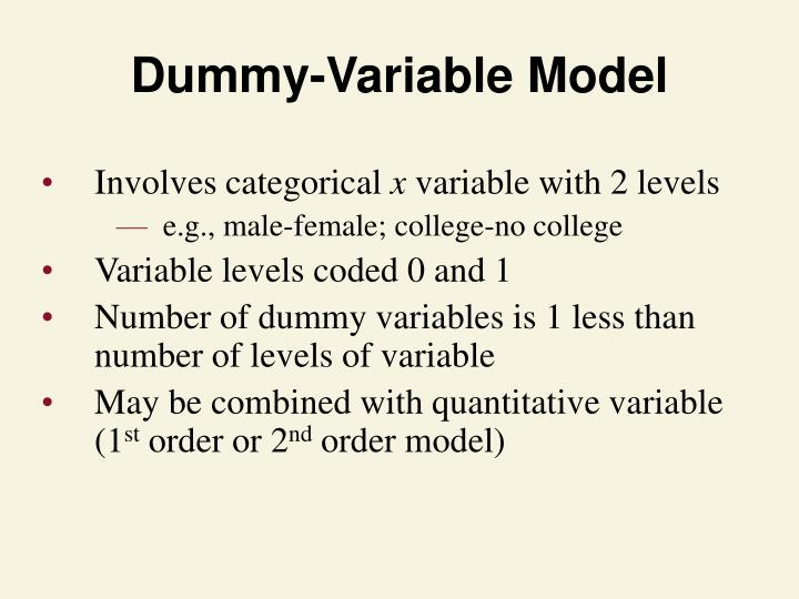 Dummy-Variable Model