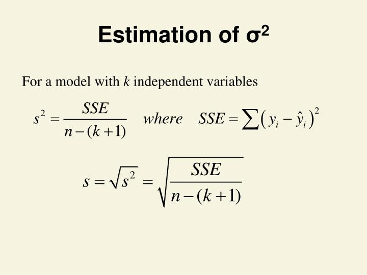 Estimation of