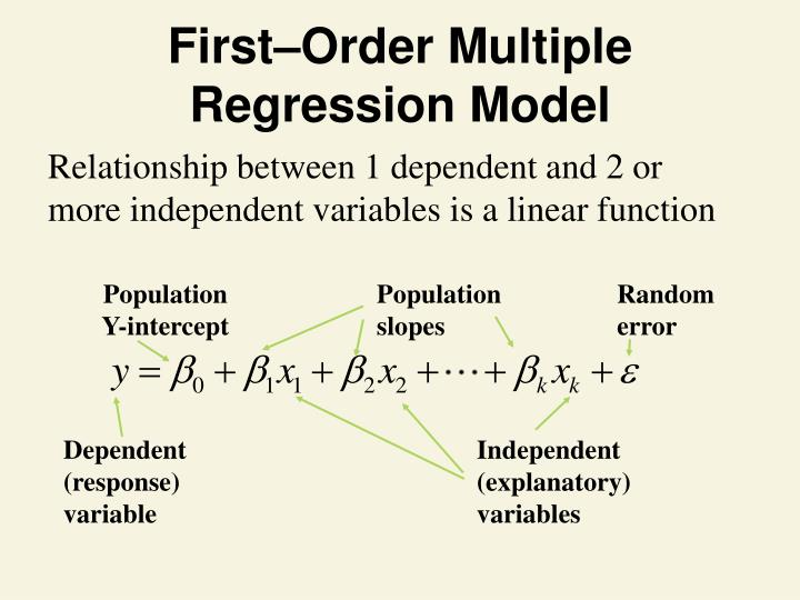 First–Order Multiple Regression Model