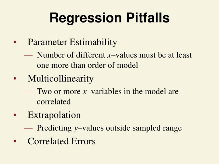 Regression Pitfalls