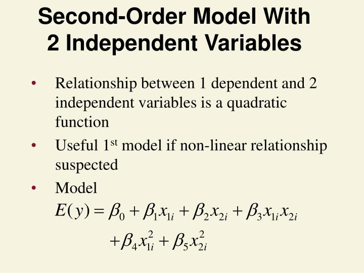 Second-Order Model With