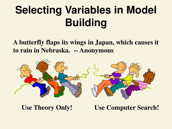 Selecting Variables in Model Building