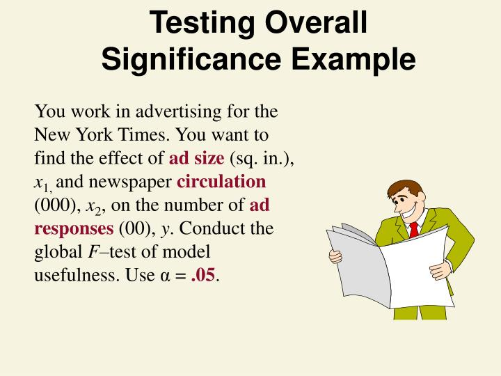 Testing Overall Significance Example