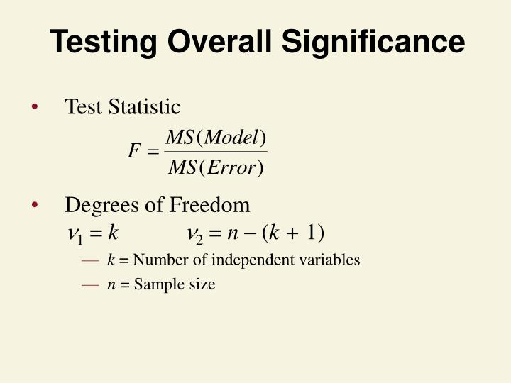 Testing Overall Significance