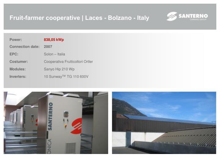 Fruit-farmer cooperative | Laces - Bolzano - Italy