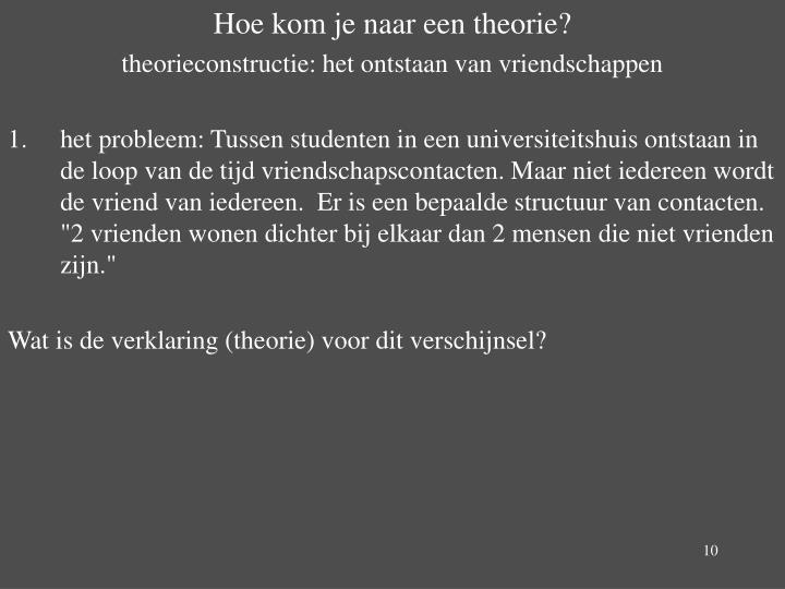 Hoe kom je naar een theorie?