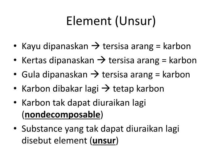 Element (Unsur)