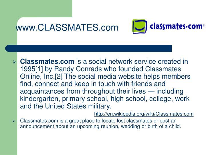 www.CLASSMATES.com
