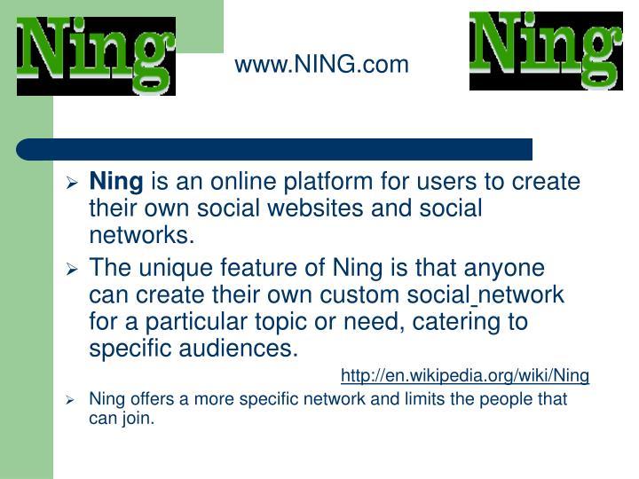 www.NING.com