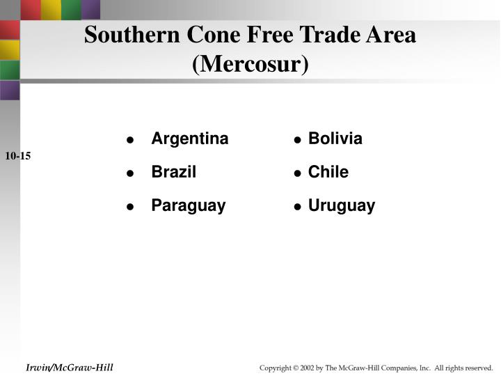Southern Cone Free Trade Area (Mercosur)