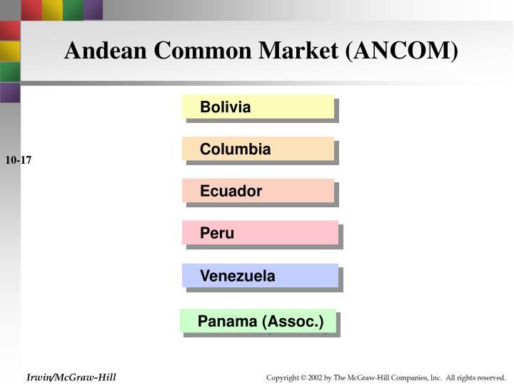 Andean Common Market (ANCOM)