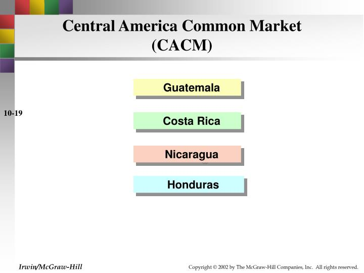 Central America Common Market (CACM)