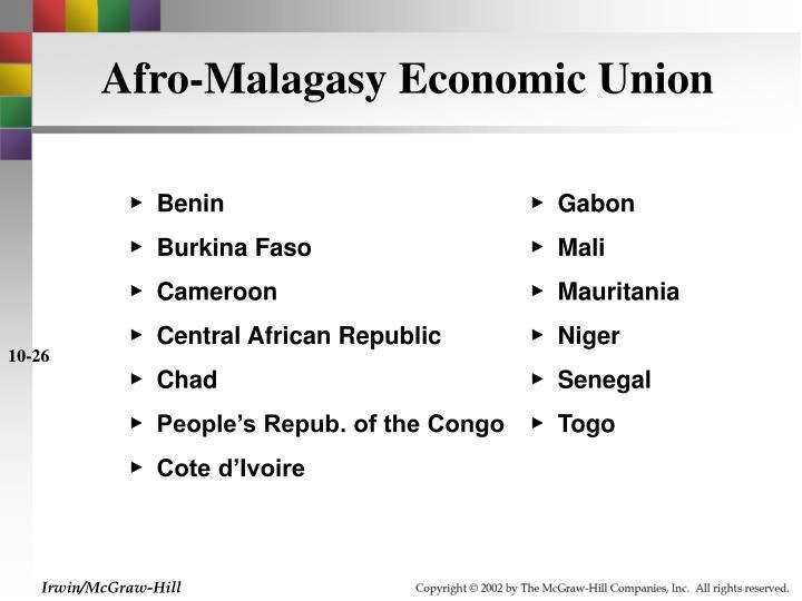 Afro-Malagasy Economic Union