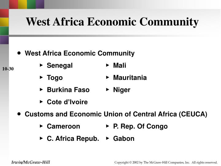 West Africa Economic Community