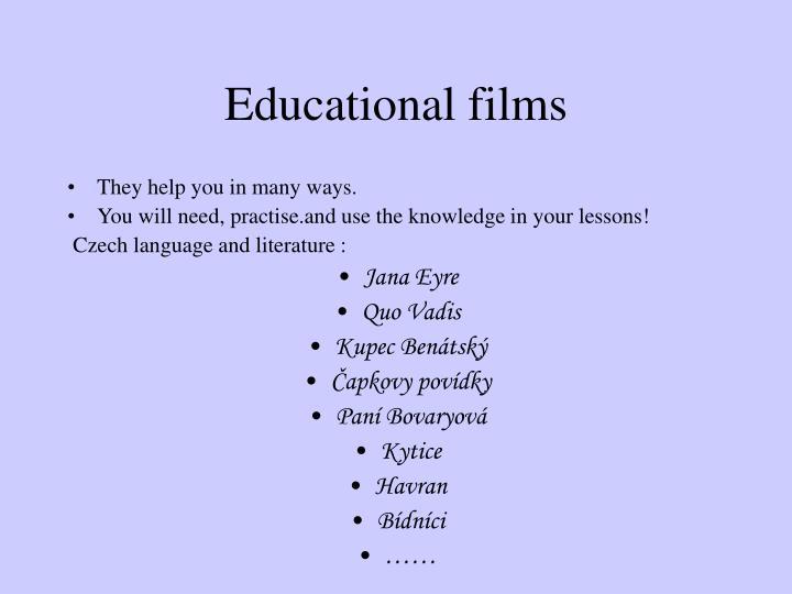 Educational films
