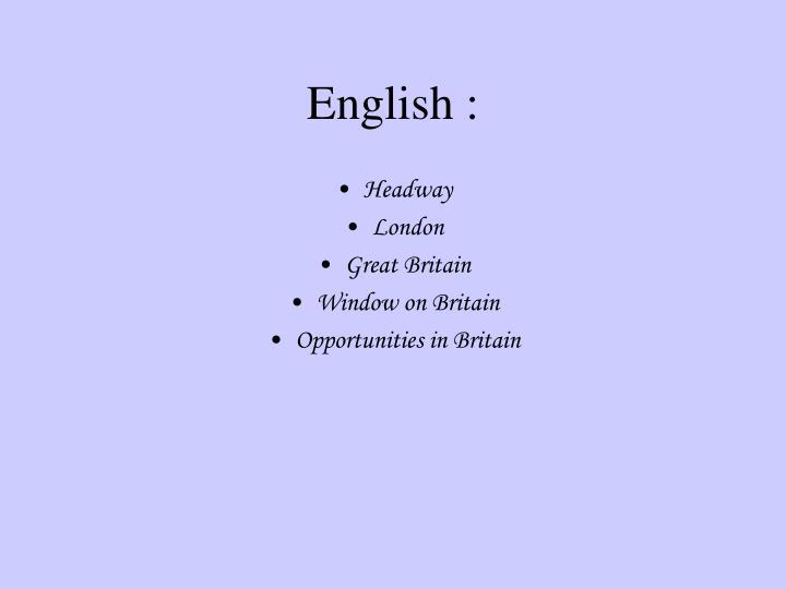 English :