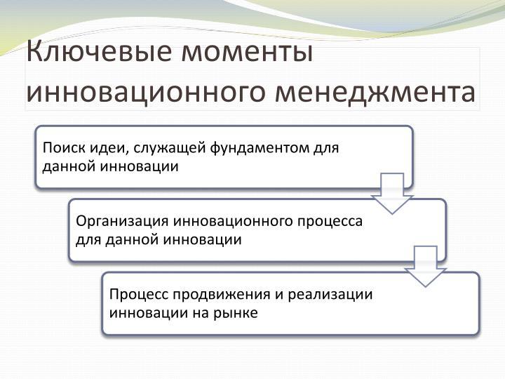 Ключевые моменты инновационного менеджмента