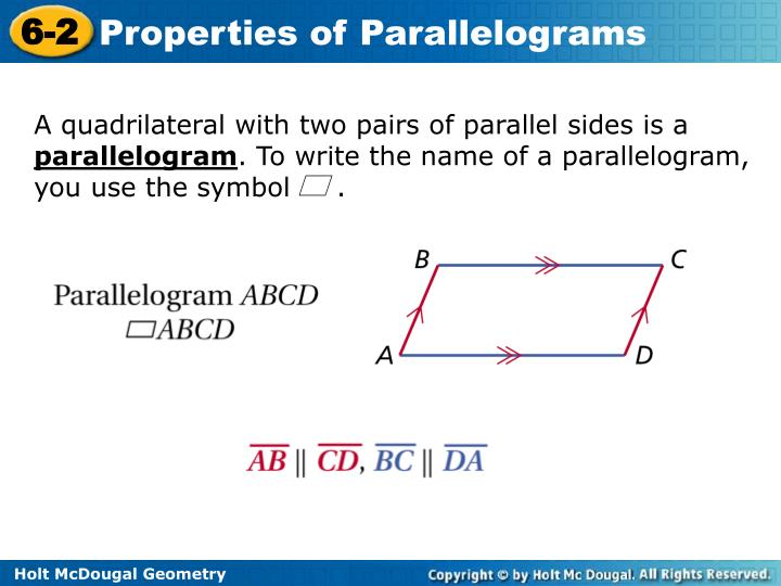 A quadrilateral with two pairs of parallel sides is a