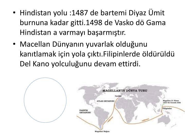 Hindistan yolu :1487 de