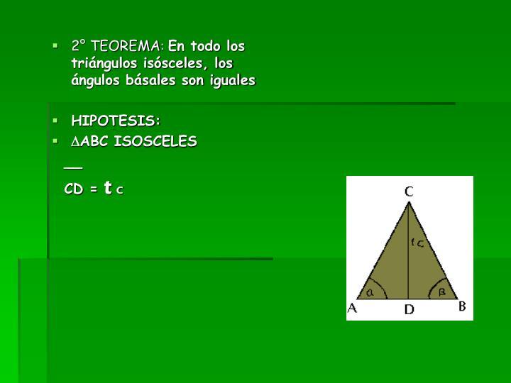 2° TEOREMA