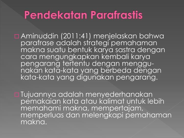 Pendekatan Parafrastis