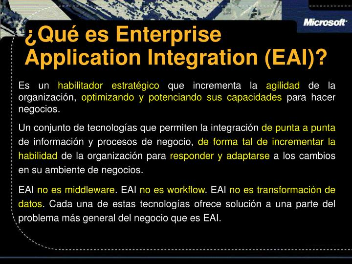 Qu es enterprise application integration eai