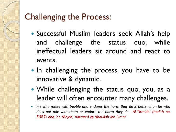 Challenging the Process: