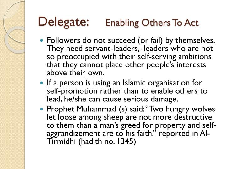 Delegate: