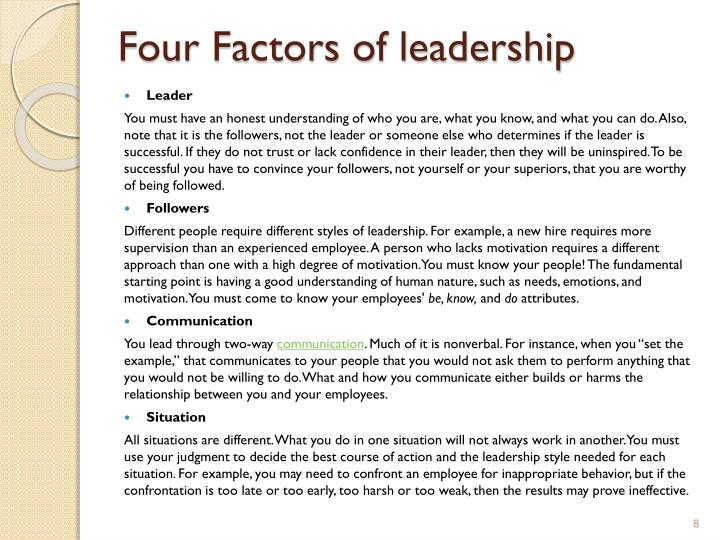 Four Factors of leadership