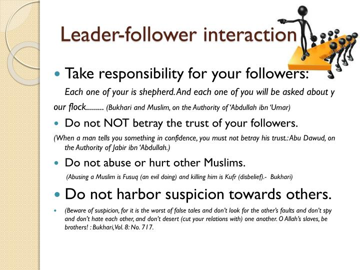 Leader-follower interaction